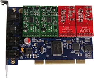 Tdm400p with 4FXO/FXS Ports Module