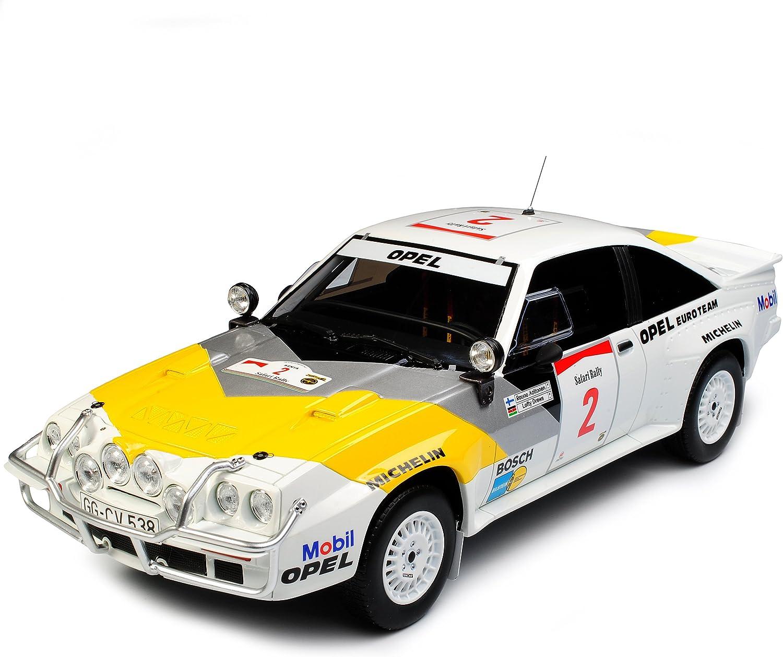 Opel Manta 400 Gruppe B Rally Safari 1985 Aaltonen Drews Nr 245 1 18 Otto Modell Auto mit individiuellem Wunschkennzeichen