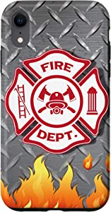 iPhone XR Fire Department Badge Firefighting Cool Firefighter Gifts Case