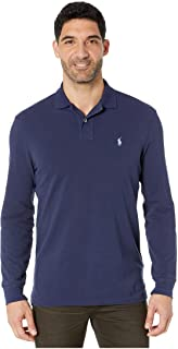 Men's Long Sleeve Mesh Polo Shirt