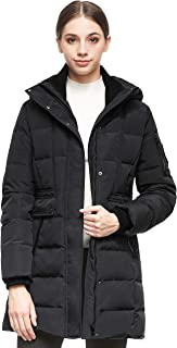Orolay Women's Hooded Winter Down Coat Quilted Mid Length Puffer Jacket