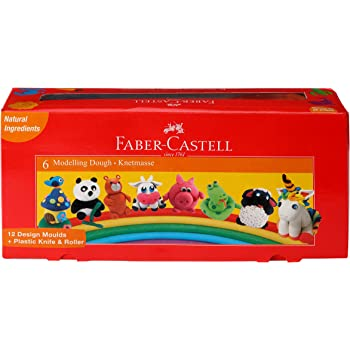 Faber-Castell Modelling Dough - Pack of 6 (Assorted)