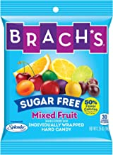 Sugar Free Mixed Fruit Hard Candy, 3.5 Ounce Peg Bag (Pack of 12) Individually Wrapped