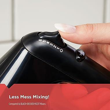 BLACK+DECKER 6-Speed Hand Mixer with 5 Attachments & Storage Case, MX3200B