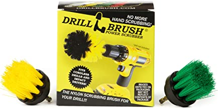 Cleaning Supplies - Kitchen Pot - Cleaner - Drill Brush - 2-inch Diameter, Long Bristle Spin Brush Set - Bathroom Accessor...