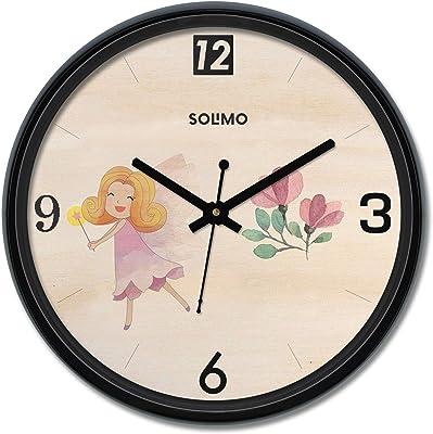Amazon Brand - Solimo 12-inch Wall Clock - Canvas (Silent Movement)