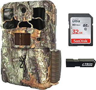 Browning Spec Ops Edge (2020) Trail Game Camera Bundle Includes 32GB Memory Card and J-TECH Card Reader (20MP) | BTC8E