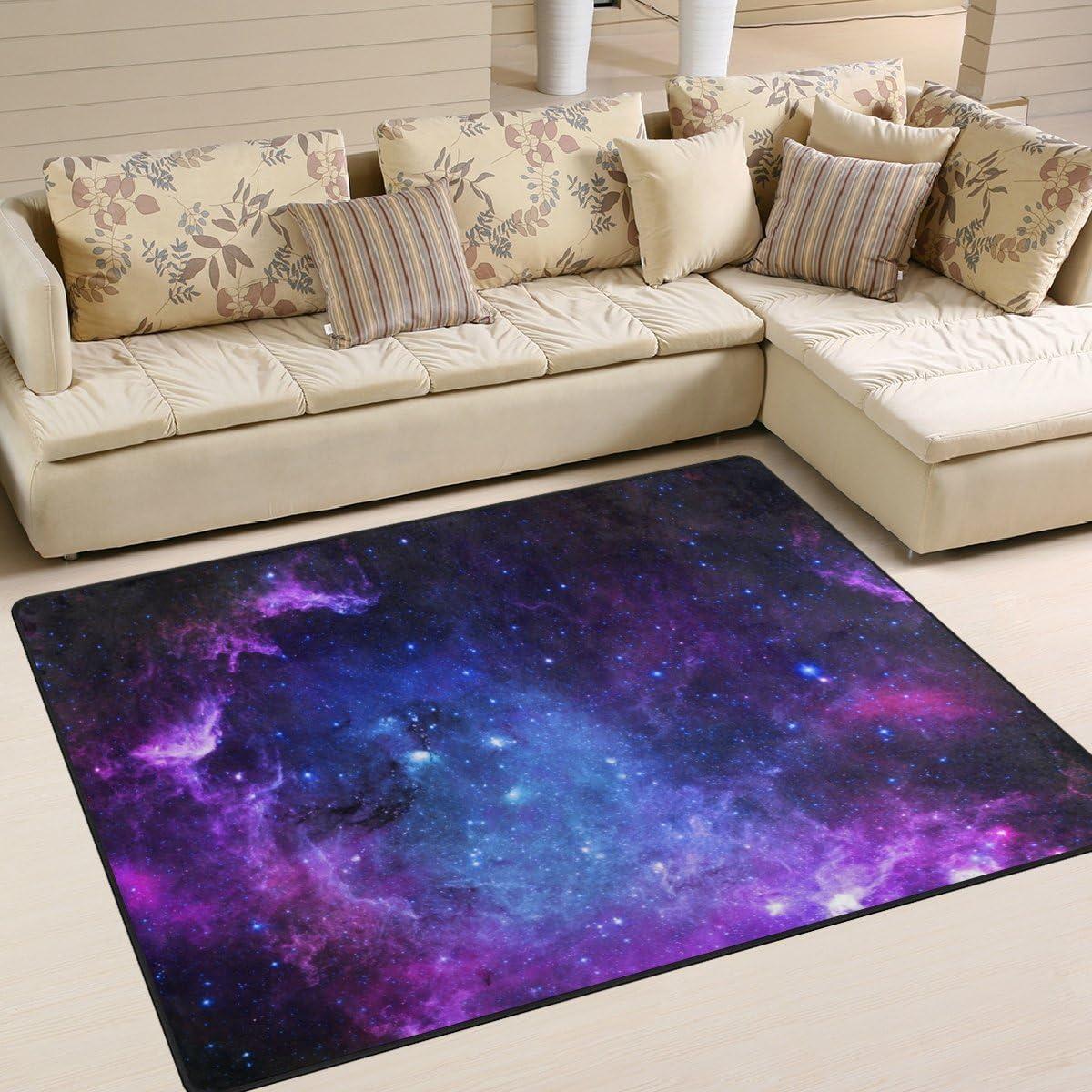 Product My Little Fashion Nest Universe Galaxy Purple Stars Custom Sky Rug Area