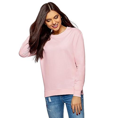 1b841dcee2 oodji Ultra Damen Baumwoll-Sweatshirt Basic