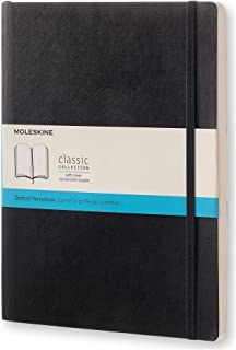 Moleskine Classic Soft Cover Notebook - Dot Grid - Extra Large - Black, (QP624)