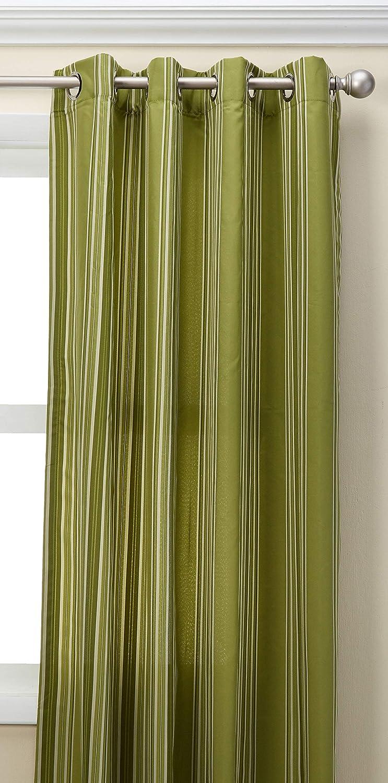 Outdoor decor Gazebo Stripe Indoor Outdoor Window Panels, 50 by 96, Green