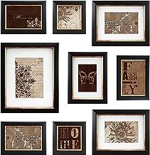 MCS 9 Piece with Usable Artwork Frame Set, Bronze Finish
