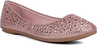 J.STIEN Women's Round Toe Slip-on Ballet Flats Shoes