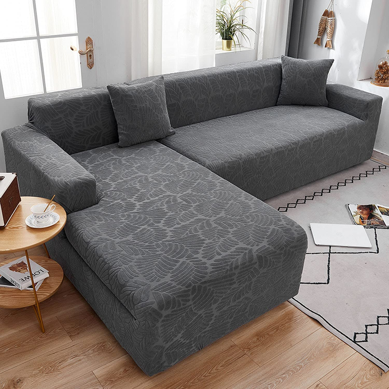 2 Pcs In a popularity Sectional Couch Covers L Shaped Sofa Roo Free shipping Living for