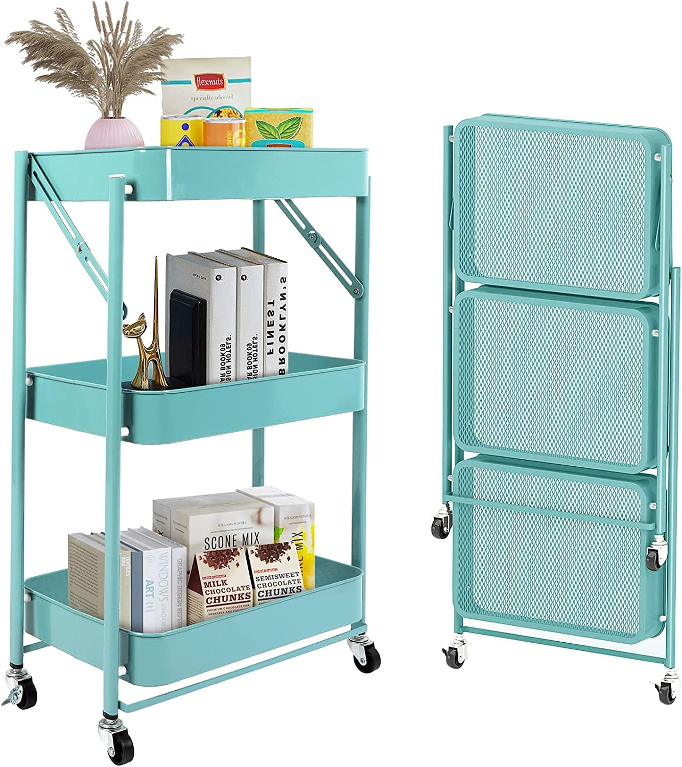Tolsous Storage OFFicial store Popularity Cart 3-Tier Bathroom Slim Organize
