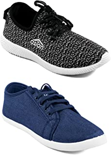 ASIAN Multicolor Casual Shoes,Sports Shoes,Gym Shoes,Sneakers,Loafers,Cnvas Shoes for Men Pack of 2