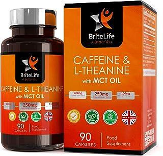 Cafeina. L-Teanina + Aceite MCT - Capsulas vegetarianas Pura