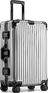 Langxj hj アルミ・マグネシウム合金ボディ スーツケース キャリーバッグ 機内持込 静音 360度自由回転 旅行出張1801