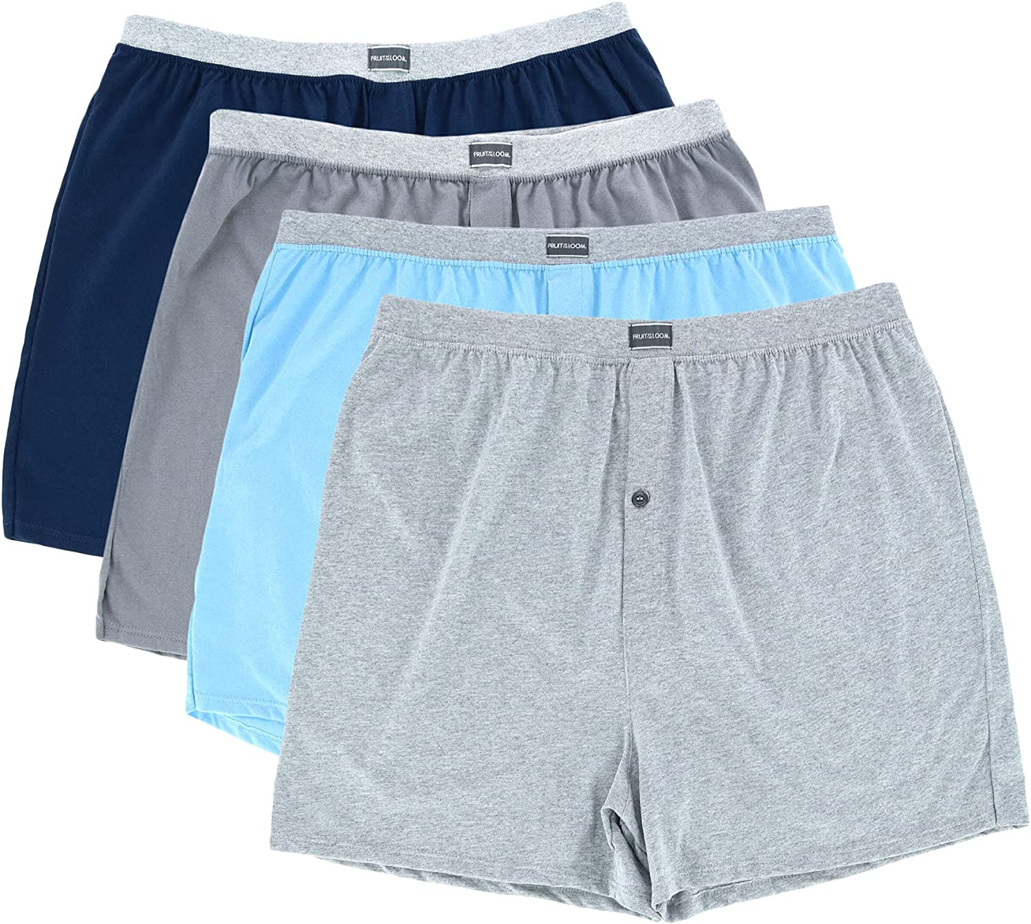 Fruit Of The Loom Mens Big Knit Boxers 4 Pack