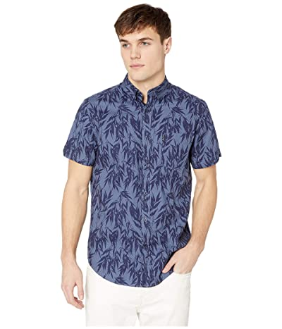 Ben Sherman Short Sleeve Leafy Print Shirt (Navy) Men