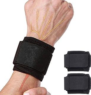 Libershine 2 szt. podnoszenie ciężarów bandaże, opaski na nadgarstki, wsparcie nadgarstka do trójboju siłowego, kulturysty...