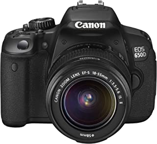 Canon EOS 650D SLR Digitalkamera (18 MP, 7,6cm (3 Zoll) Touch Display, Full HD, Kit inkl. EF S 18 55 IS II Objektiv) schwarz