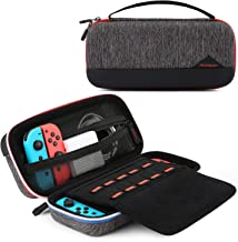BAGSMART Case for Nintendo Switch and Accessories, Switch Travel Case Protective Carrying Case, Black
