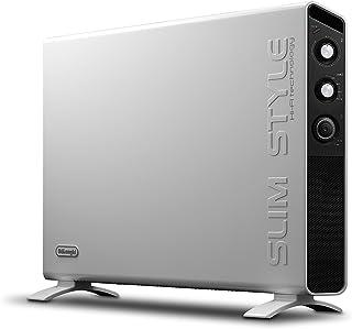 DeLonghi HCX3220FTS - Calefactor (Calentador de ventilador, 24 h, Pared, Piso, Negro, Blanco, Giratorio, 2000 W)