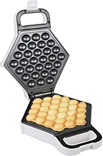 Bubble Waffle Maker- Electric Non stick Hong Kong Egg Waffler Iron Griddle (White)- Ready in under 5 Minutes