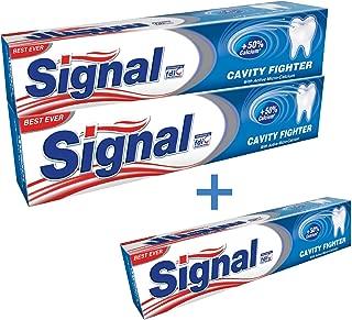 Signal Cavity Fighter Toothpaste, 2 x 120 ml + 75 ml