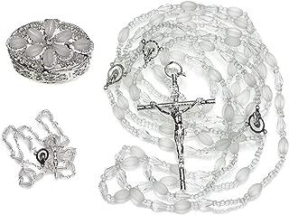 crystal wedding lasso rosary
