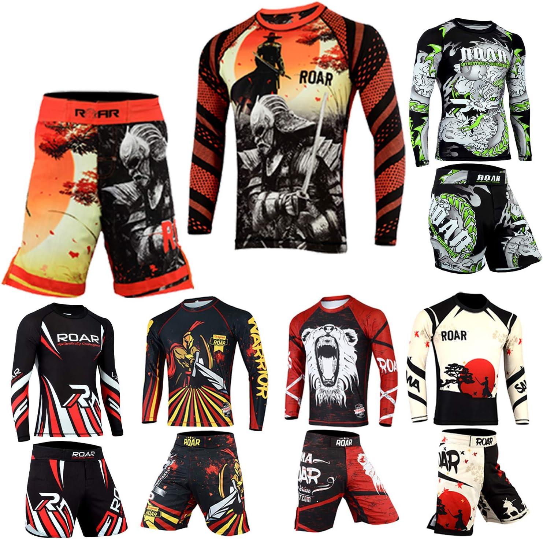 Time sale MMA Don't miss the campaign Rash Guard Set XLarge Warrior-2pcs-set