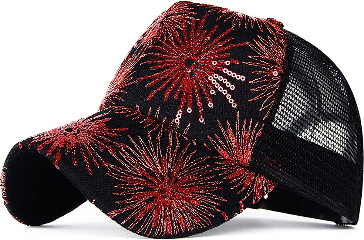 Rayna Fashion Glitter Sequin Baseball Trust Women Party Very popular Hats Rever for