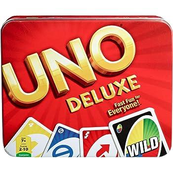 Mattel Games, Lata UNO Deluxe, Multi Color, Basic Pack