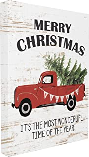 The Stupell Home Décor Collection Christmas Most Wonderful Time Vintage Truck XXL Stretched Canvas Wall Art, 30