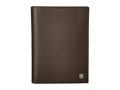 Victorinox Altius Edge Leibnitz Passport Cover w/ RFID (Dark Earth Leather) Wallet