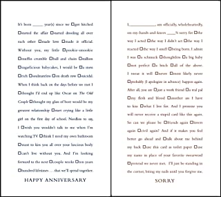 Quiplip Funny Fill-in-The-Blank Anniversary and Sorry Cards, 6-Pack (QL02216PCK)