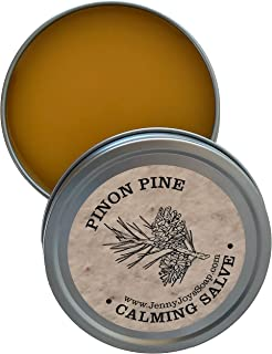 Pinon Pine Calming Drawing Salve - Antibacterial Healing of The Southwest. for: Psoriasis Treatment, Eczema, Dry Skin with Lavender & Chamomile 4oz. by Jenny Joy's Soap