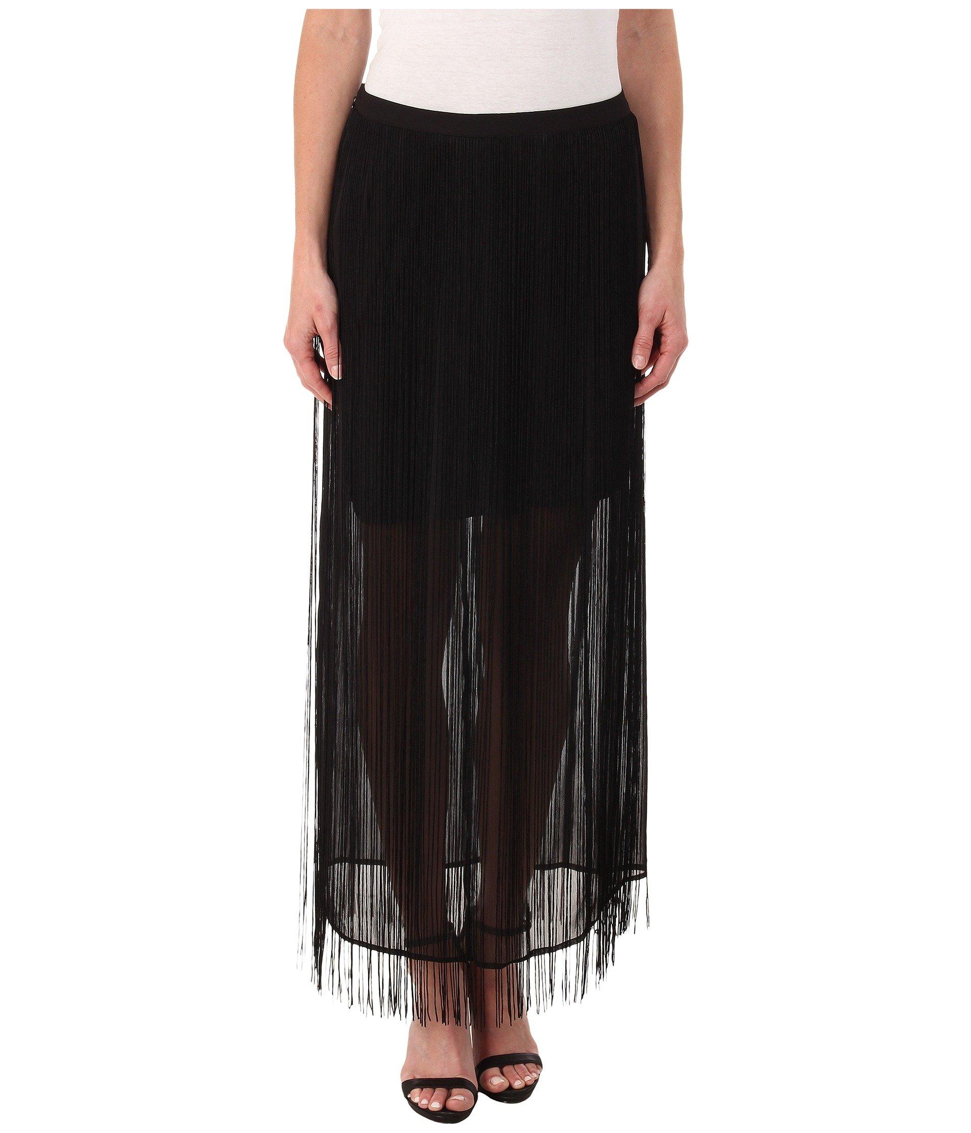 Falda para Mujer DKNYC Fringed Maxi Skirt  + DKNY en VeoyCompro.net
