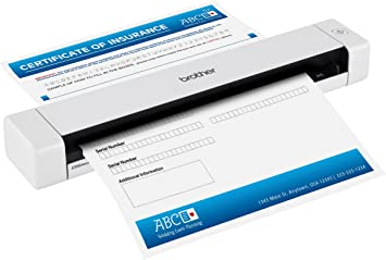 Brother Mobile Color Page Scanner, DS-620, Fast Scanning Speeds, Compact and Lightweight, Compatible with BR-Receipts, Black