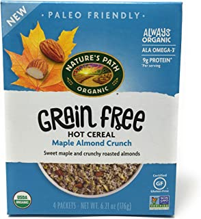 Natures Path, Cereal Hot Maple Almond Crunch Grain Free, 6.21 Ounce
