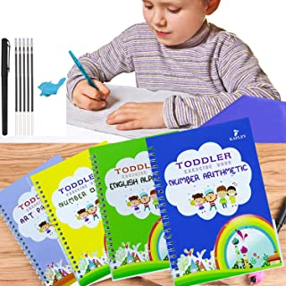 Magic Practice Copybook English for Kids Ages 2-8 Year Reusable Magical Copybook Kids Tracing Book for Handwriting Magical...