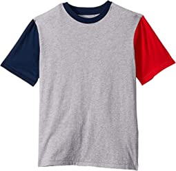 Grey Marle/Navy Red Block
