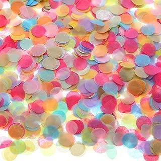 Round Tissue Paper Table Confetti Dots for Wedding Birthday Party Decoration, 1.76 oz (Colorful Confetti, 1.5 cm)