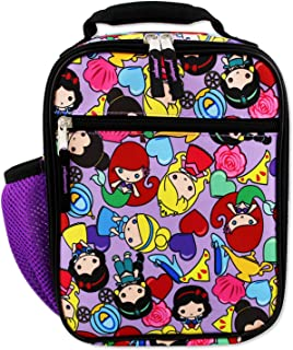 Disney Princess Emoji Girl's Soft Insulated School Lunch Box (One Size, Purple)