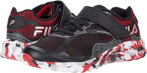 Black/Fila Red/Metallic Silver