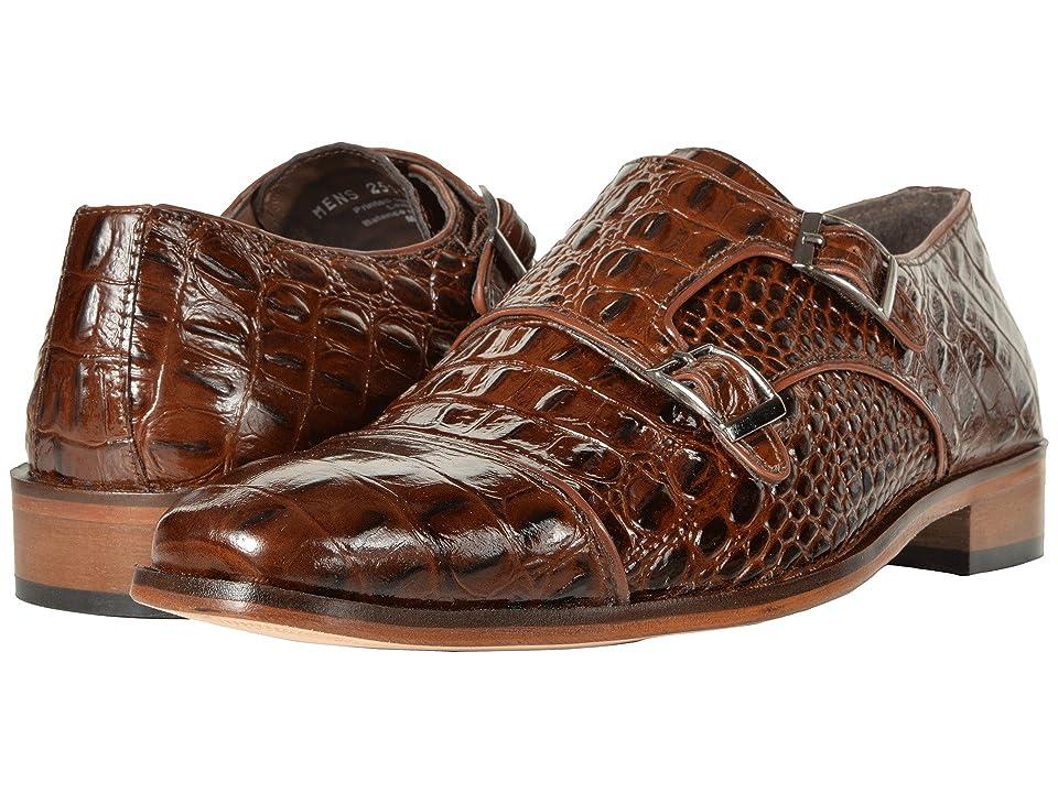 60s Mens Shoes | 70s Mens shoes – Platforms, Boots Stacy Adams Golato Double Monkstrap Loafer Cognac Mens Lace Up Cap Toe Shoes $90.00 AT vintagedancer.com