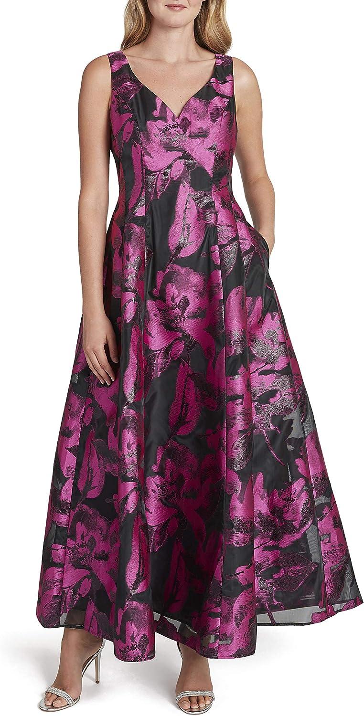 Tahari ASL Women's Sleeveless Tucson Mall Sweetheart Floral Gown Print Neck Regular discount