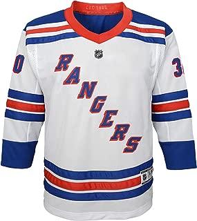 Outerstuff NHL NHL New York Rangers Youth Boys Henrik Lundqvist Replica Jersey-Away, White, Youth Small/Medium (8-12)