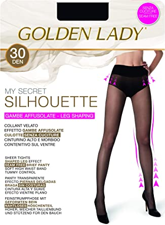GOLDEN LADY My Secret Silhouette 30 3p Collant Donna